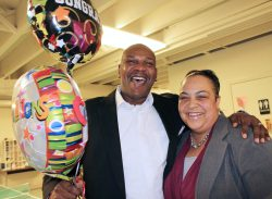 Robert & his wife Shannon celebrate his graduation from the Mission's New Life Program