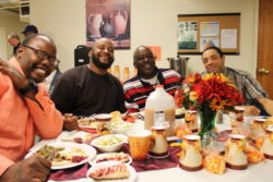 Enjoying the fellowship at our 2016 Thanksgiving Day Feast