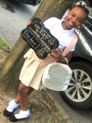 Teeyah's first day of 3rd grade